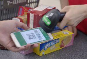 Platba skrze WeChat v obchodech