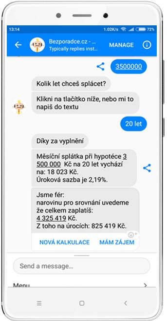 Chatbot Marvin - poradí s hypotékou